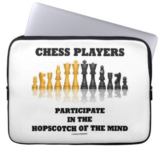 Chess Players Participate Hopscotch Mind Chess Set Laptop Sleeve