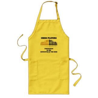Chess Players Participate In The Hopscotch Of Mind Long Apron