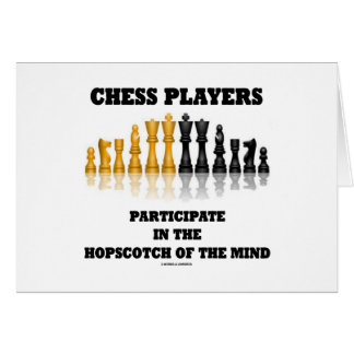 Chess Players Participate In The Hopscotch Of Mind Greeting Card