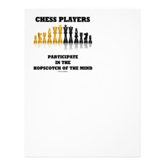 Chess Players Participate In The Hopscotch Of Mind Letterhead