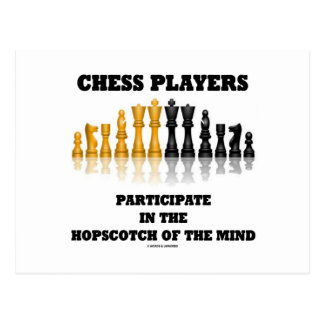 Chess Players Participate In The Hopscotch Of Mind Postcard