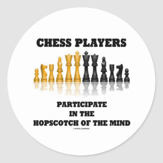 Chess Players Participate In The Hopscotch Of Mind Classic Round Sticker