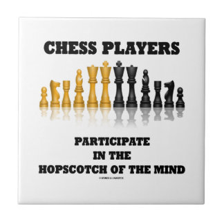 Chess Players Participate In The Hopscotch Of Mind Small Square Tile