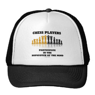 Chess Players Participate In The Hopscotch Of Mind Trucker Hat