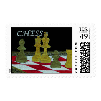 CHESS PLAYERS POSTAGE STAMP
