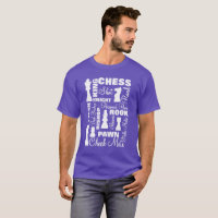 Chess Players Typography Design T-Shirt
