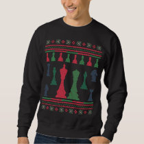 Chess Players Ugly Christmas Sweater King Queen
