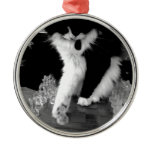 chess playing cat christmas tree ornament