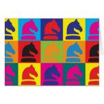 Chess Pop Art Card