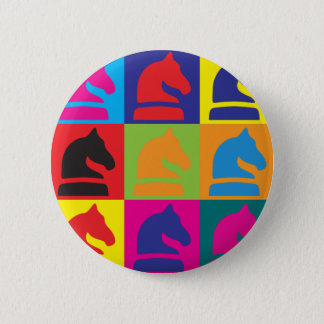 Chess Pop Art Pinback Button