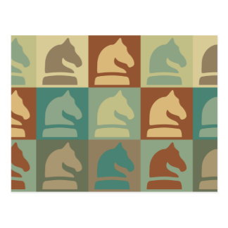 Chess Pop Art Post Card