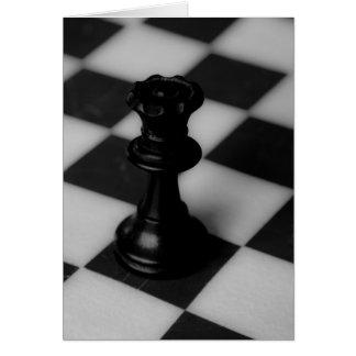Chess queen card