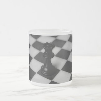 Chess queen frosted glass coffee mug