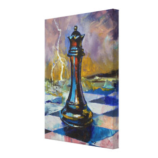 Chess Queen Painting Canvas Print
