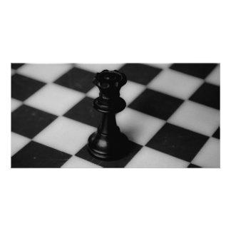Chess queen custom photo card