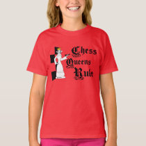 Chess Queen's Rule, Girl Youth T-shirt