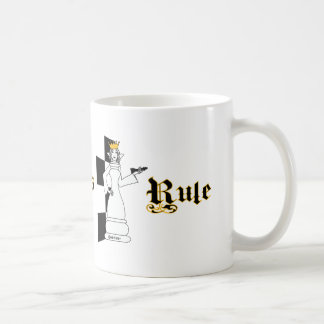 Chess Queen's Rule, Mug, wit-t-shirt