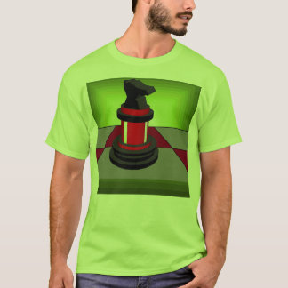 Chess Red Knight Chessboard Red Green Tshirt