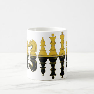 Chess Reflection, Chess Mug, wit-t-shirt Coffee Mug
