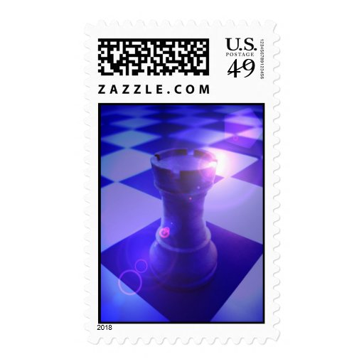 Chess Rook Postage Stamp