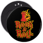 Chess Rook & Roll 6 Inch Round Button