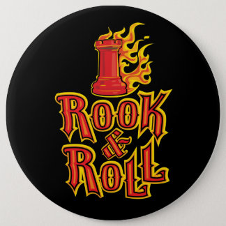 Chess Rook & Roll Pinback Button