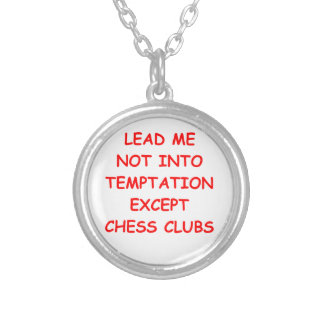 chess round pendant necklace