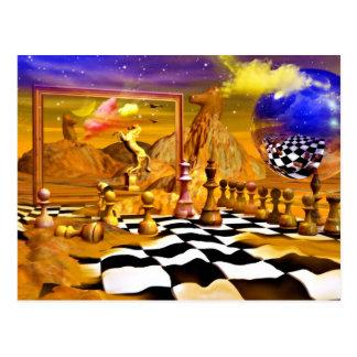 Chess Series, Chess Paintings, Chess art Post Card