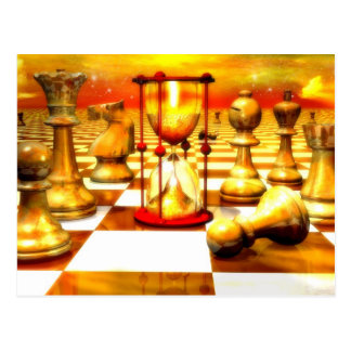 Chess Series, Chess Paintings, Chess art Post Cards