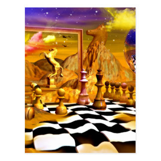 Chess Series, Chess Paintings, Chess art Postcards