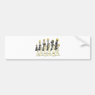 Chess Set Cartoon Bumper Sticker