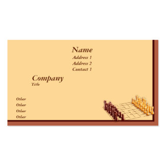 Chess Set Double-Sided Standard Business Cards (Pack Of 100)
