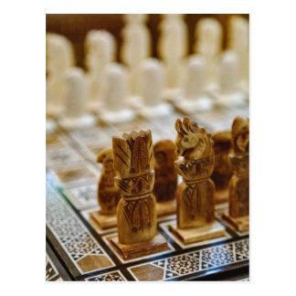 Chess set for sale, Khan el Khalili Bazaar, Postcard