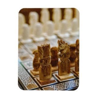 Chess set for sale, Khan el Khalili Bazaar, Rectangular Photo Magnet