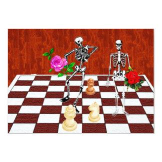 Chess Skeletons Card