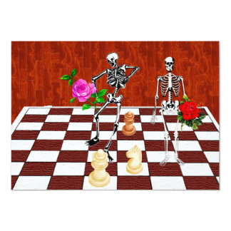 Chess Skeletons Cards