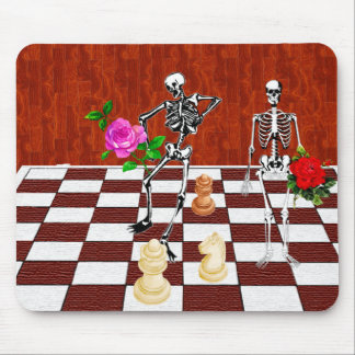 Chess Skeletons Mouse Pad