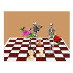 Chess Skeletons Post Card