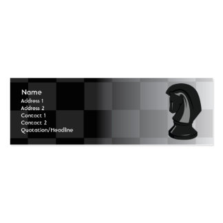 Chess - Skinny Double-Sided Mini Business Cards (Pack Of 20)