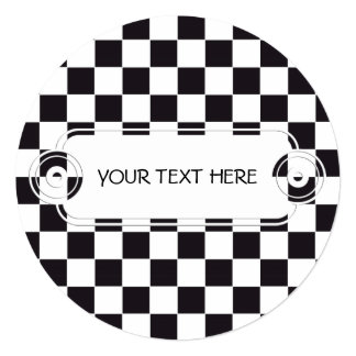 Chess Square Pattern - black + your background Card