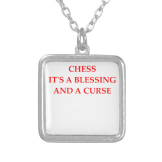 chess square pendant necklace