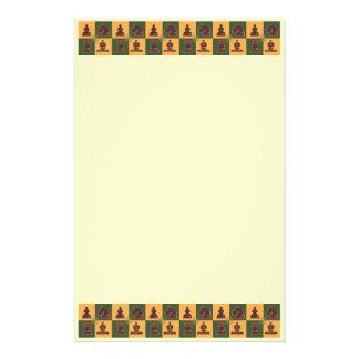 Chess Squares Custom Stationery