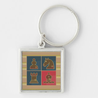 Chess Squares Keychain