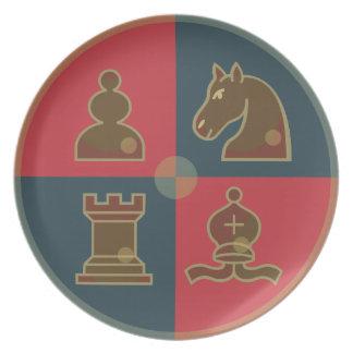 Chess Squares Melamine Plate