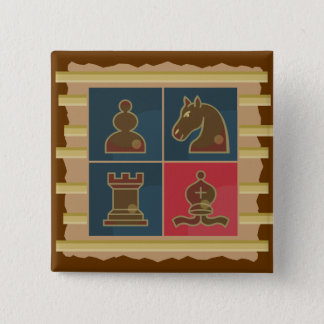 Chess Squares Pinback Button