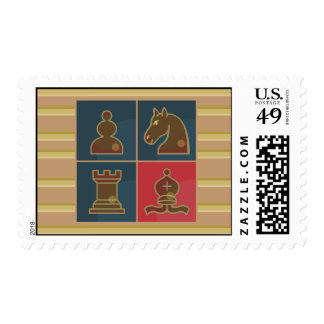 Chess Squares Postage