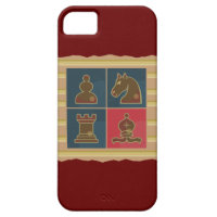 Chess Squares Red iPhone 5 Case