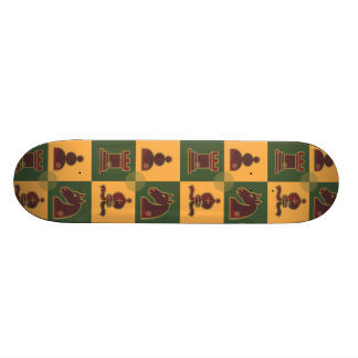 Chess Squares Skateboard