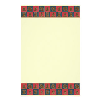 Chess Squares Customized Stationery