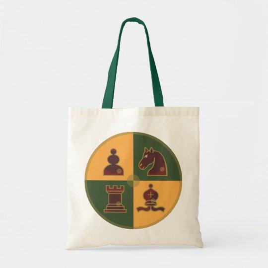 Chess Squares Tote Bag